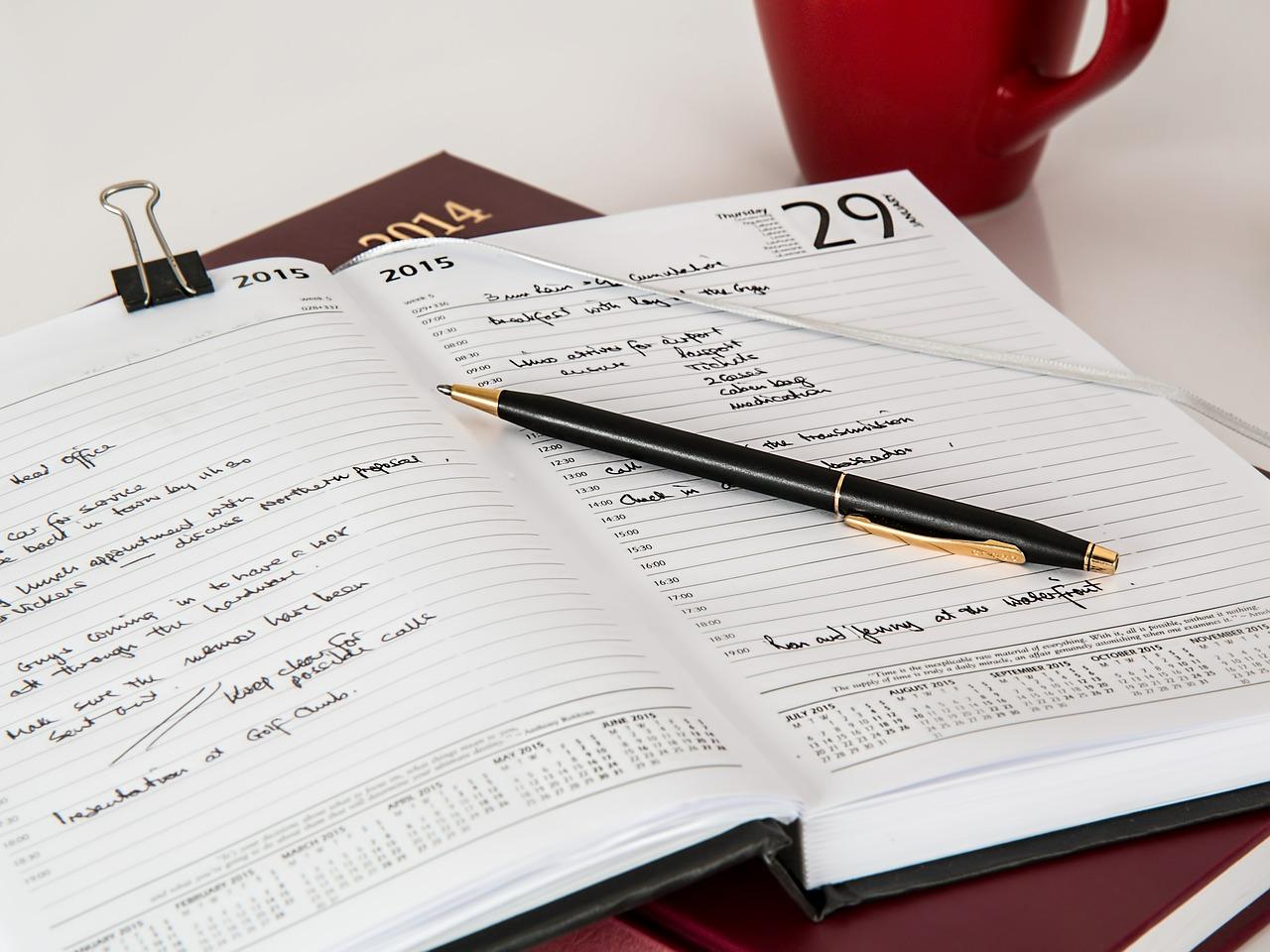 いろいろなことが書いてあるノート