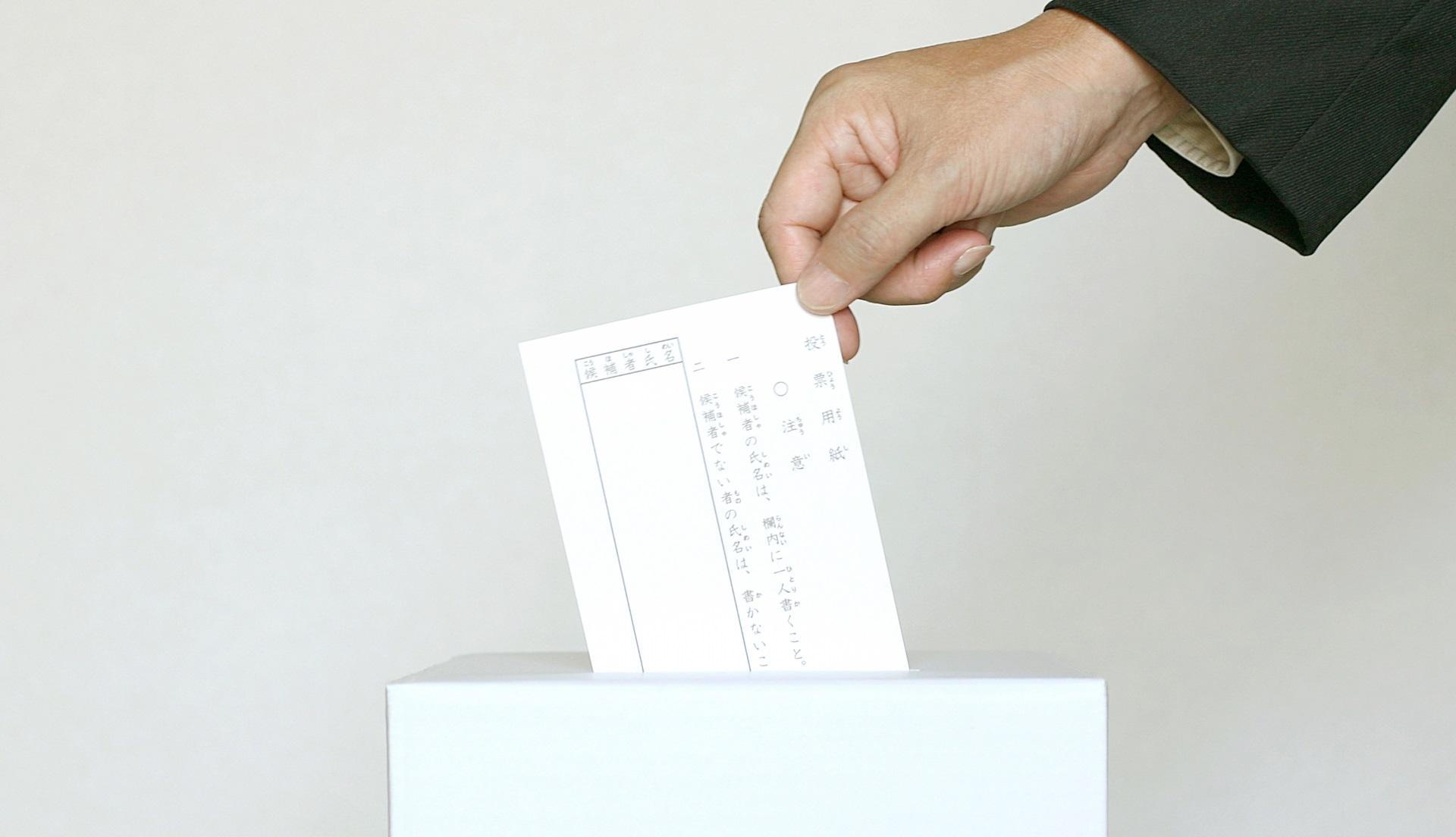 投票をする人