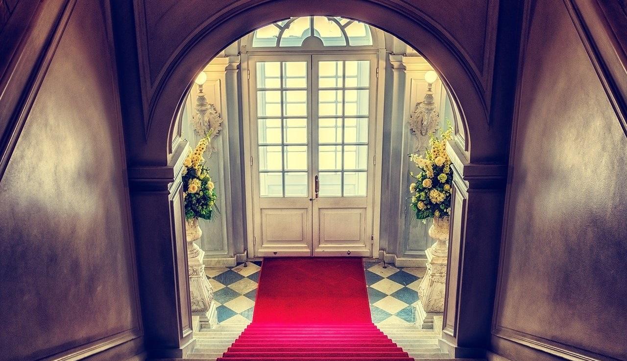 結婚式会場の入り口