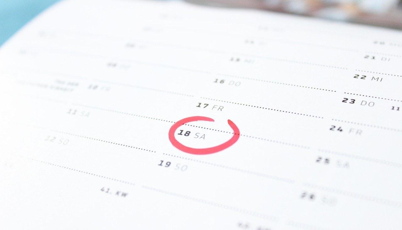 カレンダーに書いた予定